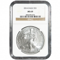 NGC Certified Silver Eagles (MS69)