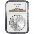 NGC Certified Silver Eagles (MS70)