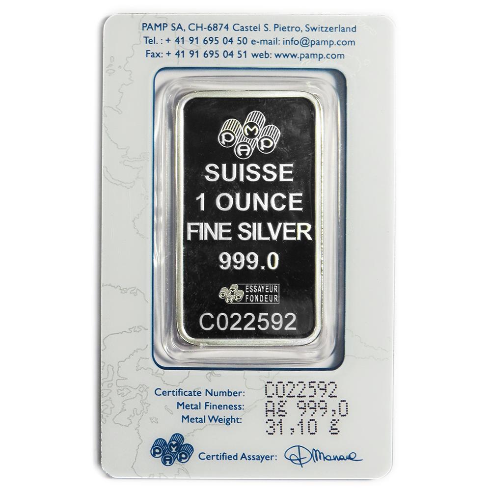 1 Troy Oz Pamp Suisse 999 Fine Silver Bar Fortuna Ebay