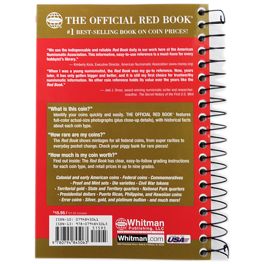 The Official Red Book A Guide Of Book Of US Coins  St - Us national park quarters book