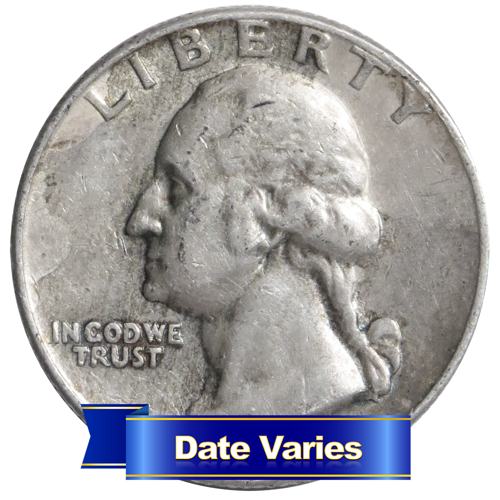 1932 1964 90 Silver Washington Quarters Average