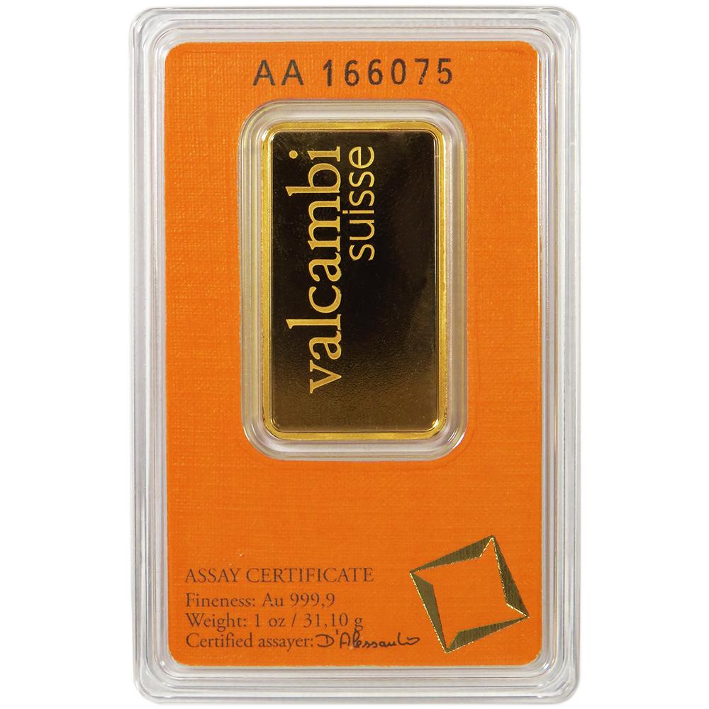 1 Troy Oz Valcambi Suisse 9999 Fine Gold Bar Sealed In Assay Ebay