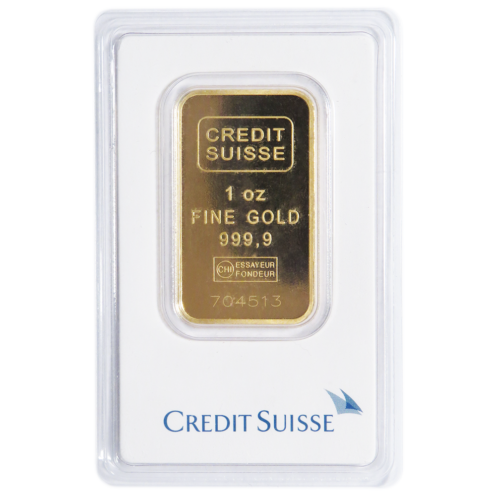 1 Troy Oz Credit Suisse Gold Bar 9999 Fine Sealed In