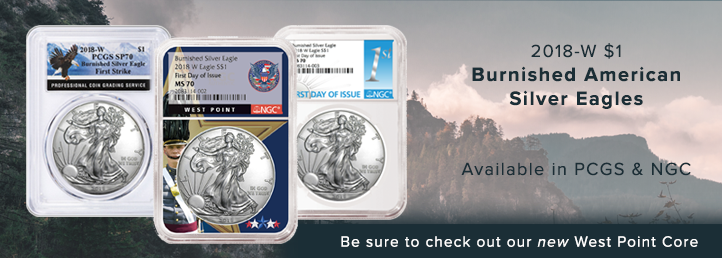 2018-W Burnished American Silver Eagles Available in PCGS & NGC