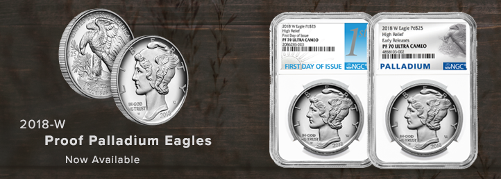2018-W Proof Palladium Eagles
