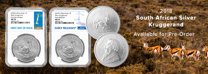 2018 South African Silver Krugerrrand in Graded Holders and BU