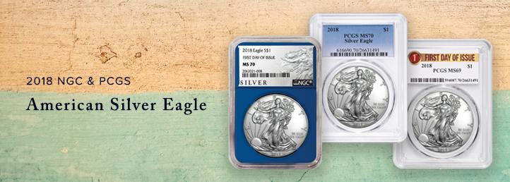 2018 Silver American Eagles