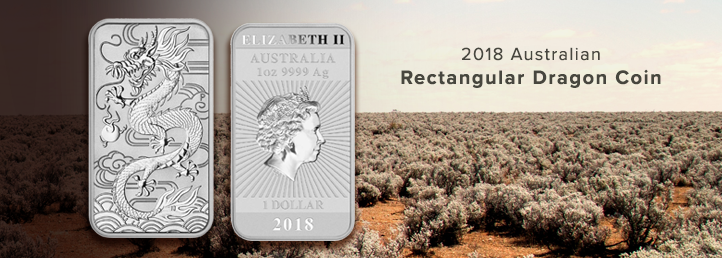 2018 Australian Silver Rectangular Dragon Coin