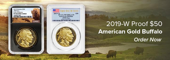 2019-W Proof $50 Gold Buffalos