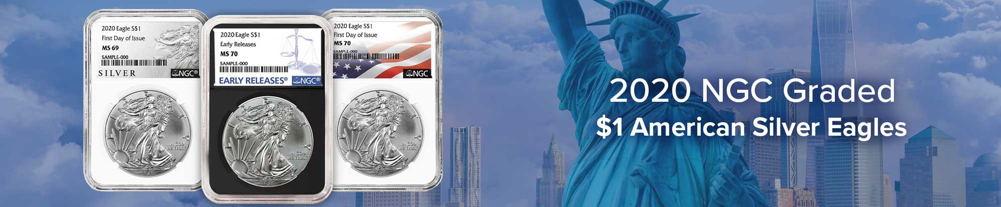 2020 NGC Graded $1 American Silver Eagle