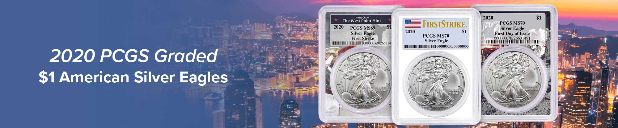 2020 PCGS Graded $1 American Silver Eagle