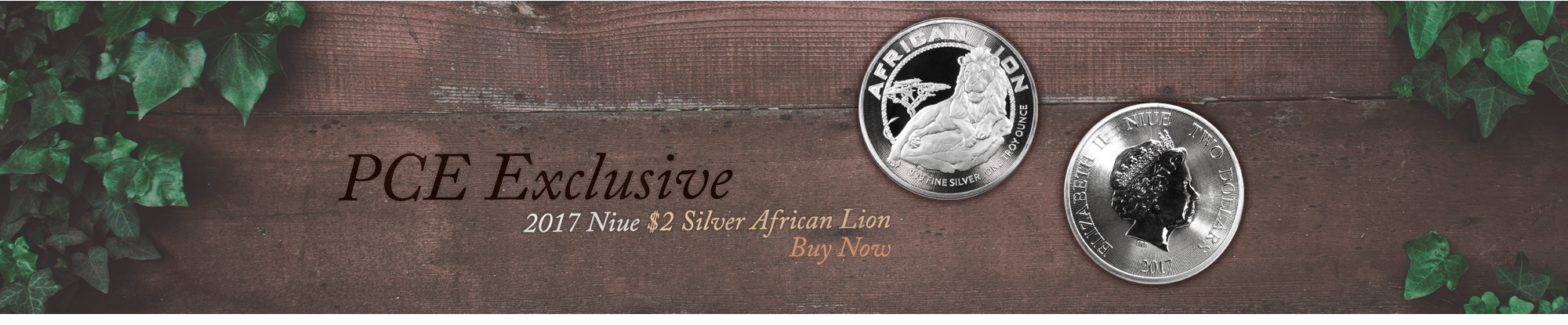PCE Exclusive 2017 Niue $2 Silver African Lion