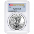 PCGS Certified Silver Eagles (MS70)