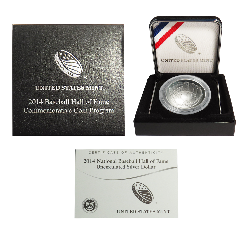 COA Best B36 2014 D Baseball Hall of Fame Uncirculated Half Dollar US Mint Box
