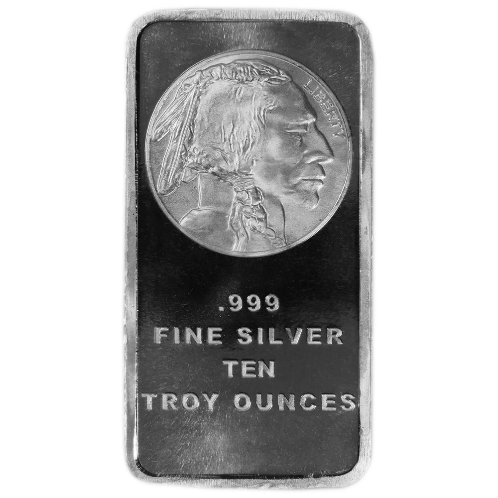 10 Troy Oz Buffalo 999 Fine Silver Bar Versiegelt Ebay