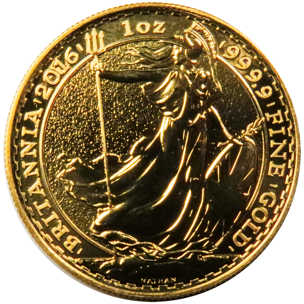 2016 U K 100 Pound 1 Oz Gold Britannia Brilliant
