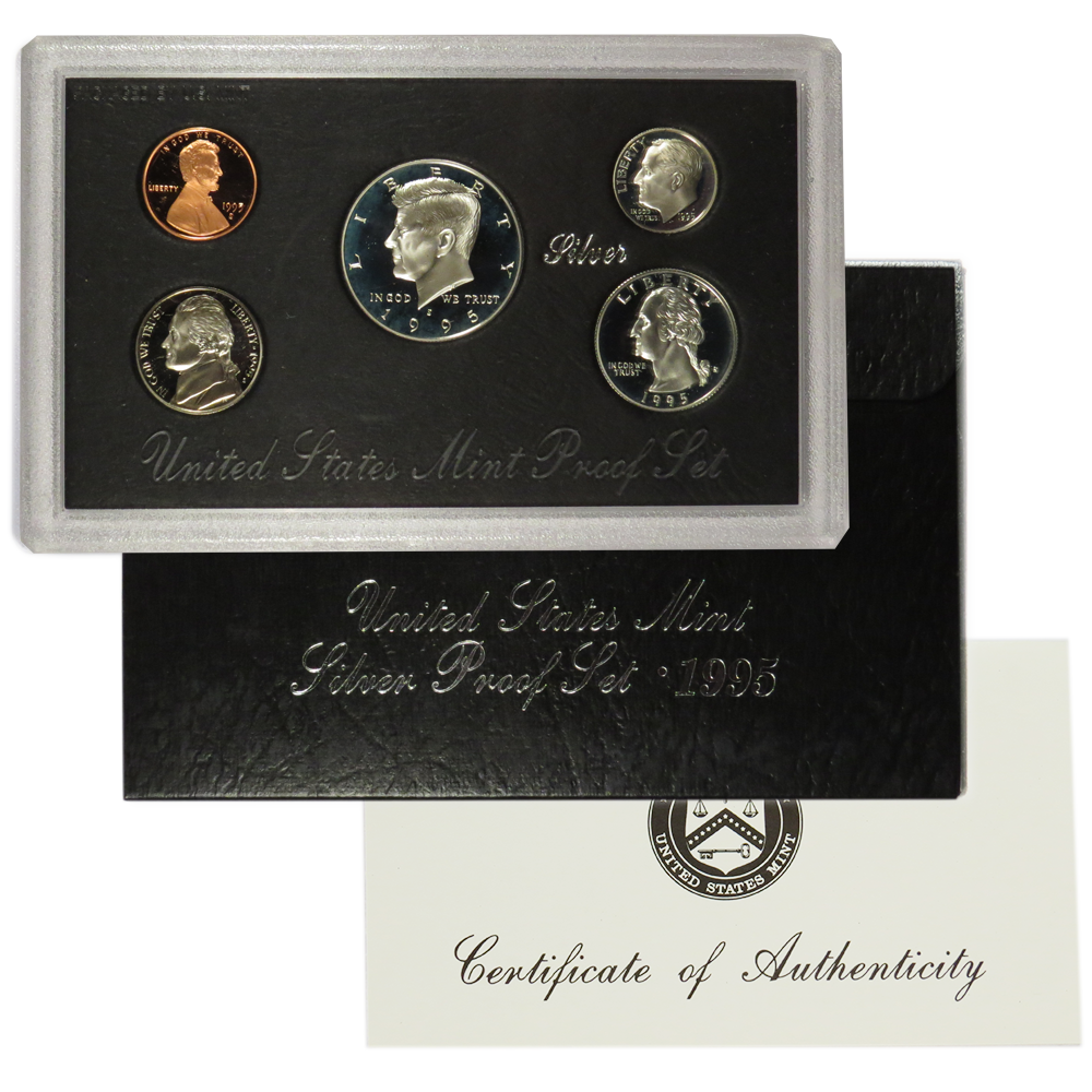 1995-S 90/% Silver Proof Set United States Mint Original Government Packaging Box