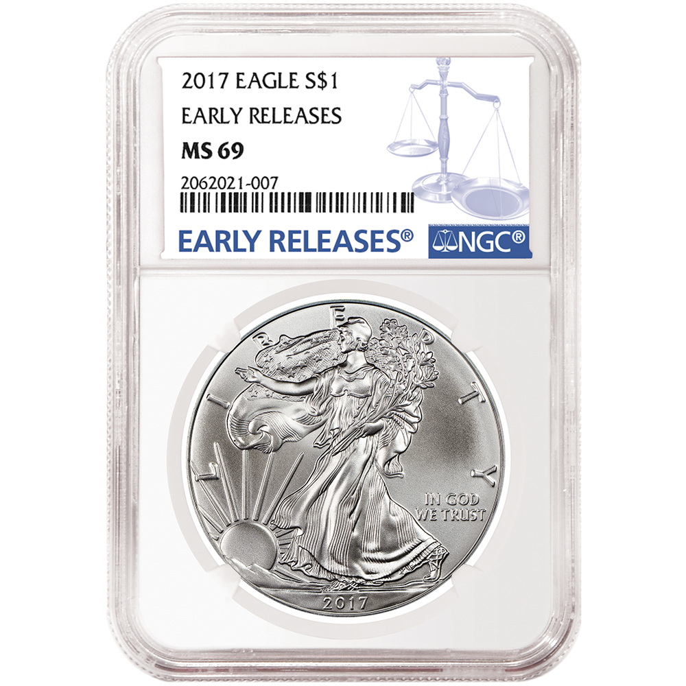 Early Releases 2019 W Burnished Silver Eagle NGC MS69 Blue Label