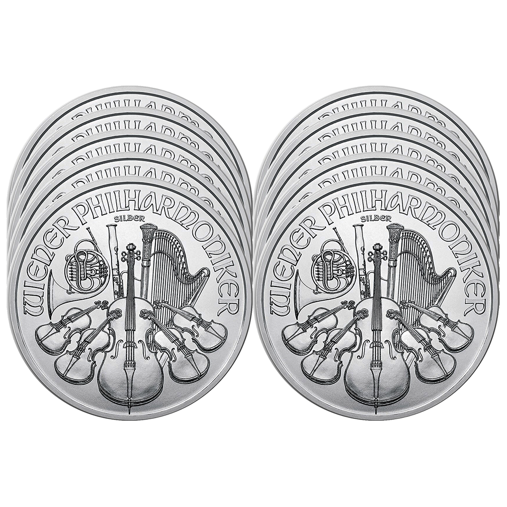 Lot of 3-2020 1.50 Euro Silver Austrian Philharmonic 1 oz Brilliant Uncirculat