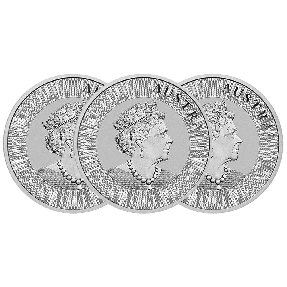 1oz Australian Silver Kangaroo Brilliant Uncirculated w//Our COA AU 2019 Lot of 5