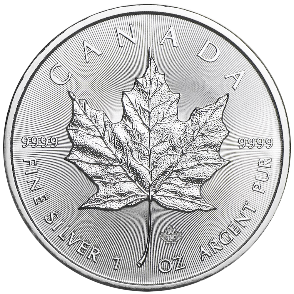 Lot of 10-2019 $5 Silver Canadian Maple Leaf 1 oz Brilliant Uncirculated