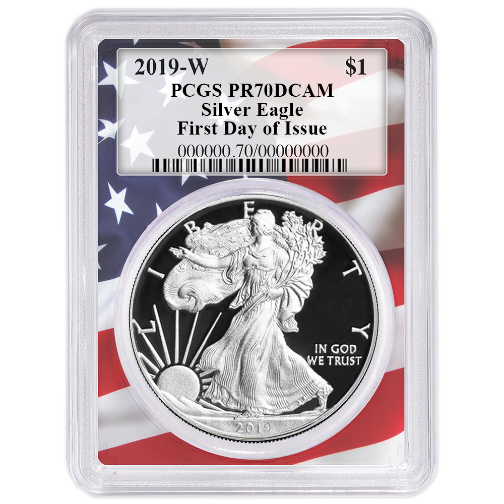 2018-W Proof $1 American Silver Eagle PCGS PR69DCAM Blue Label