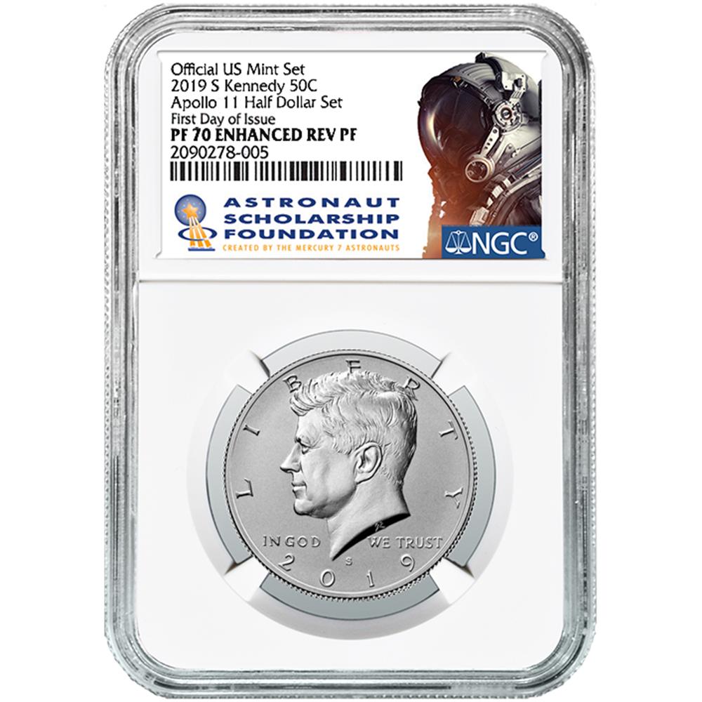2019 S Kennedy half dollar NGC PF70 Enhanced Reverse Proof Price Cut