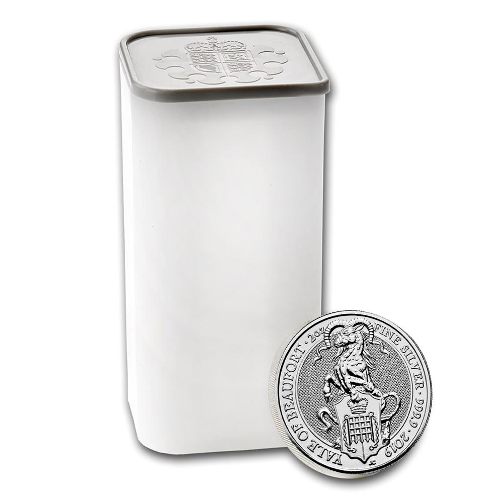 2019 U.K. 5 Pound Silver Queen's Beast Yale of Beaufort .9999 2 oz BU 3