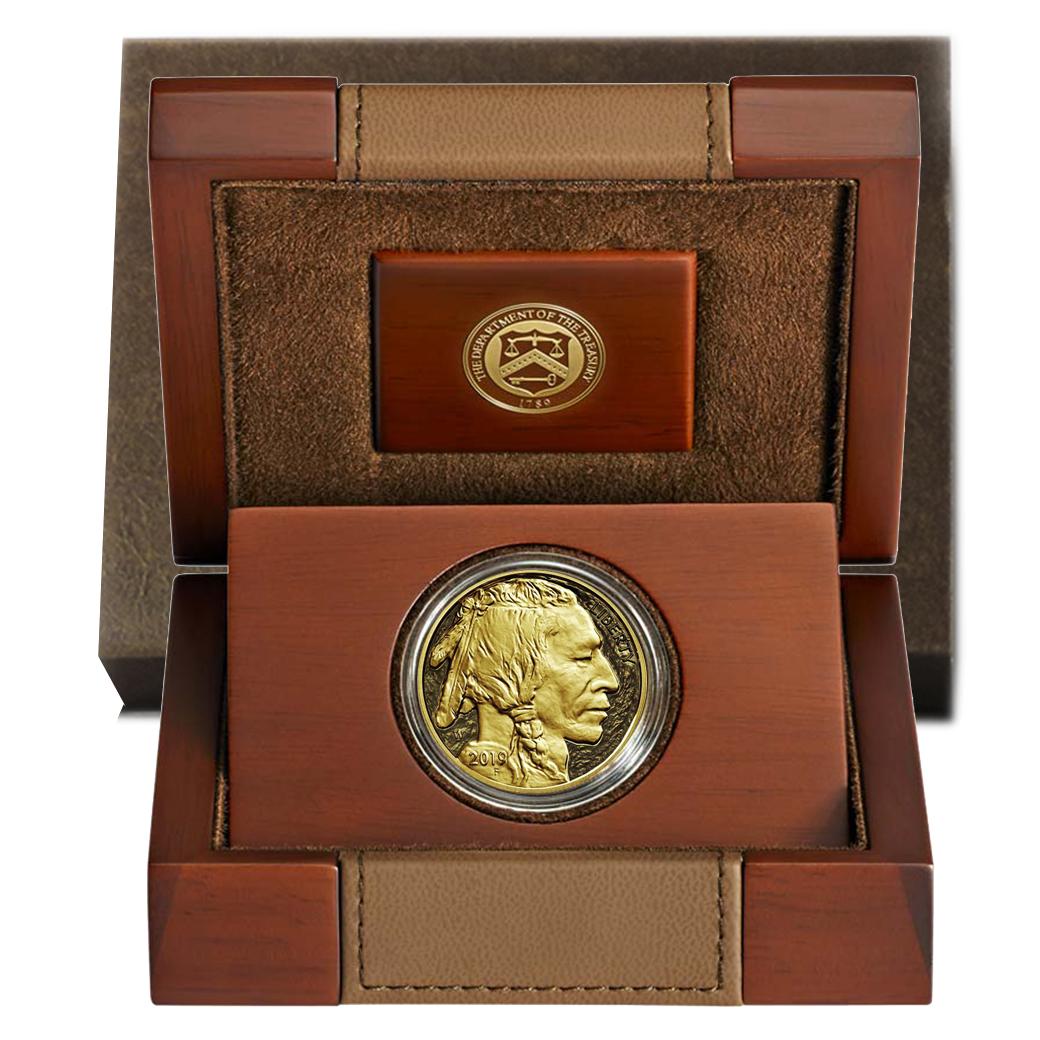 2018-W $50 American Gold Buffalo Proof Box OGP /& COA NO COINS