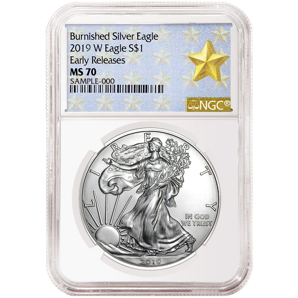 2019-W Burnished $1 American Silver Eagle NGC MS70 FDI West Point Core