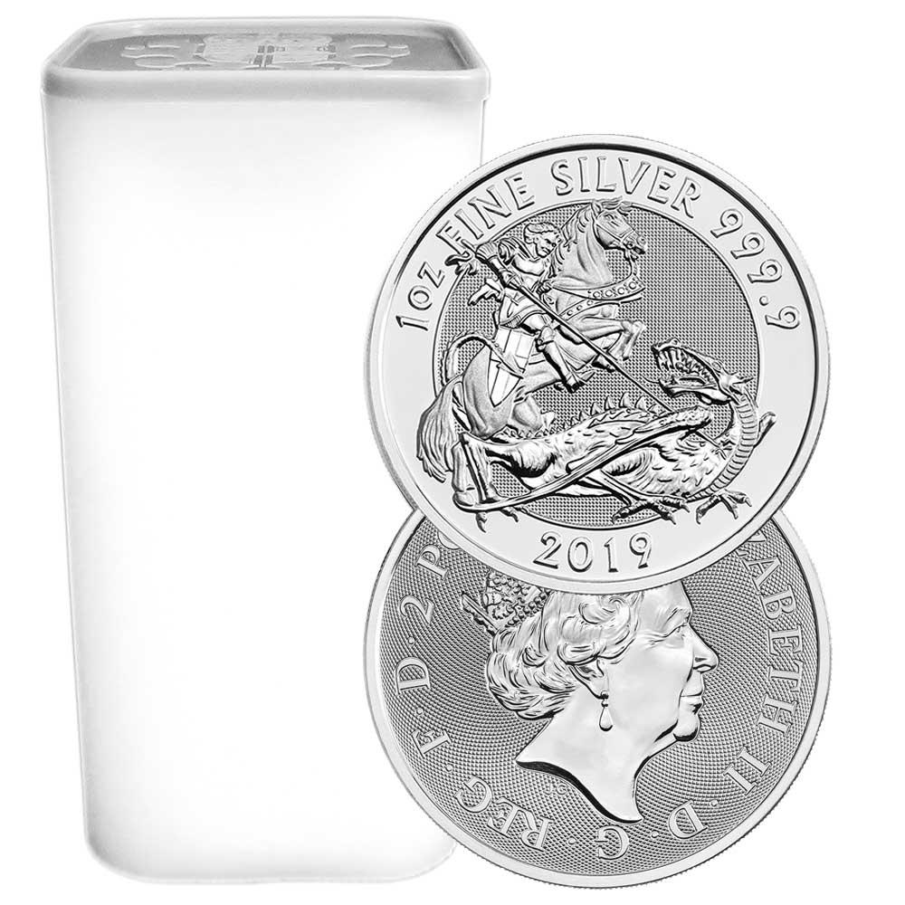 2 Pound Silver Valiant .9999 1 oz Brilliant Uncirculated Lot of 2-2019 U.K