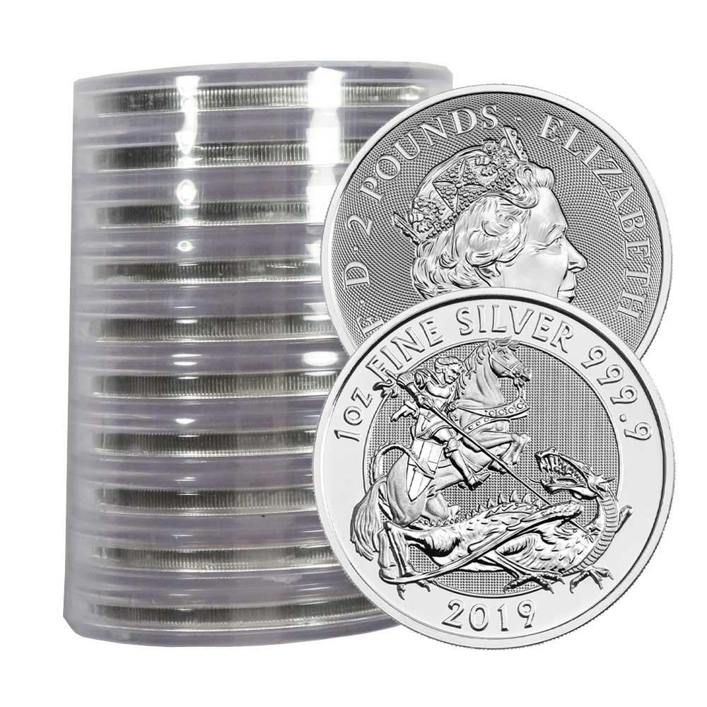 2019 U K 2 Pound Silver Valiant 9999