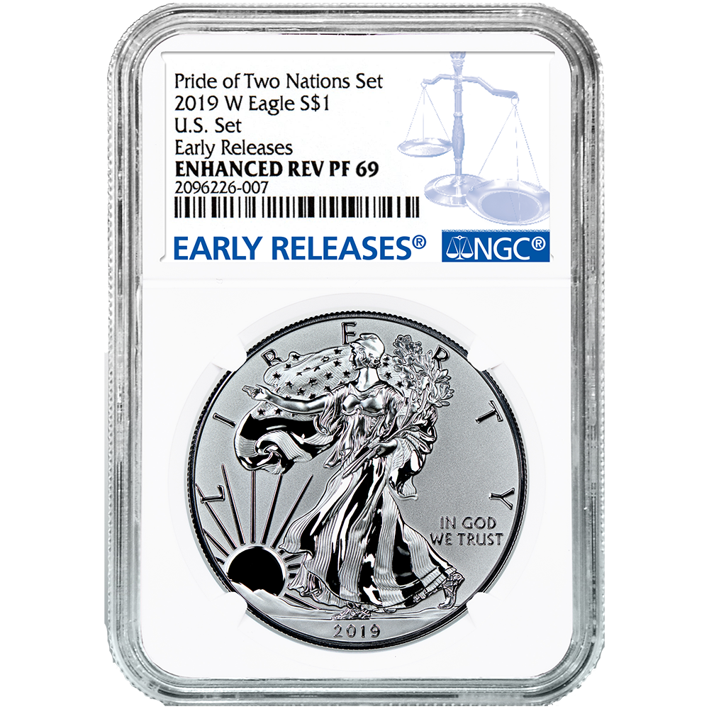 american eagle 2020 one ounce silver enhanced reverse proof coin