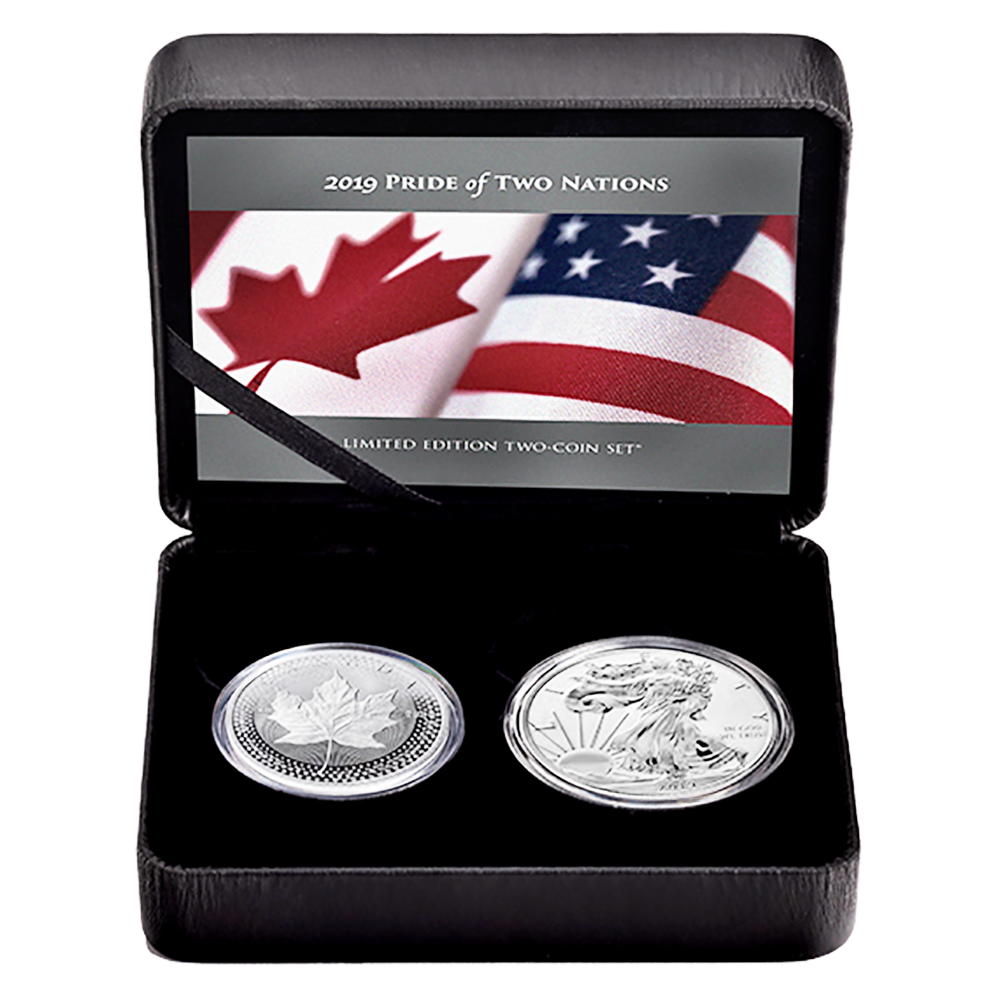U.S Set Box OGP /& COA 2019 Pride of Two Nations Silver 2pc