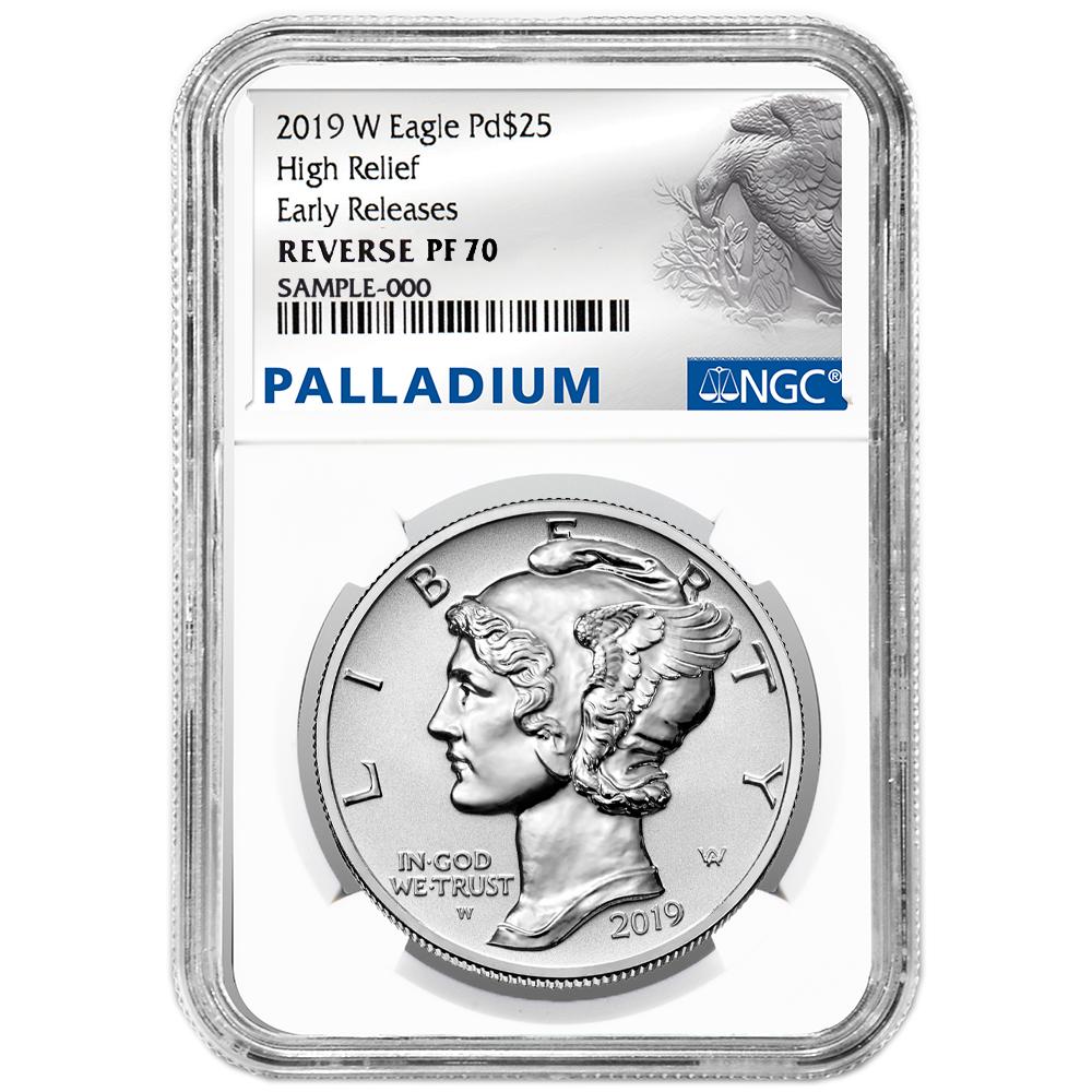 2018-W Proof $25 American Palladium Eagle .9995 1 oz PCGS PR70DCAM FDOI Flag Lab