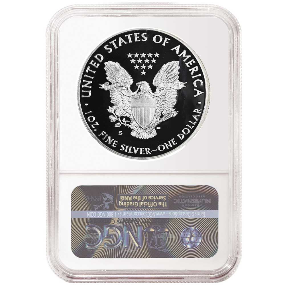 2019-S Proof $1 American Silver Eagle NGC PF70UC ALS ER Label