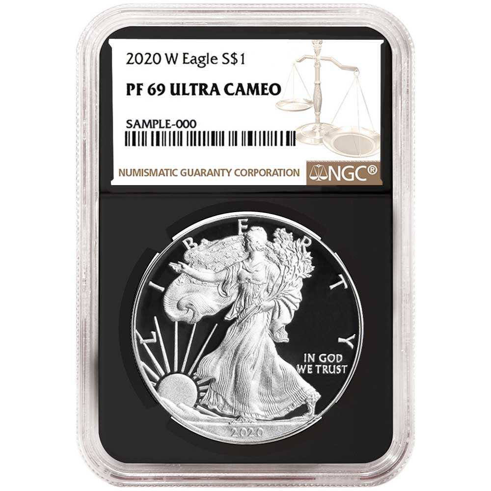 2018-W Proof $1 American Silver Eagle NGC PF69UC Brown Label