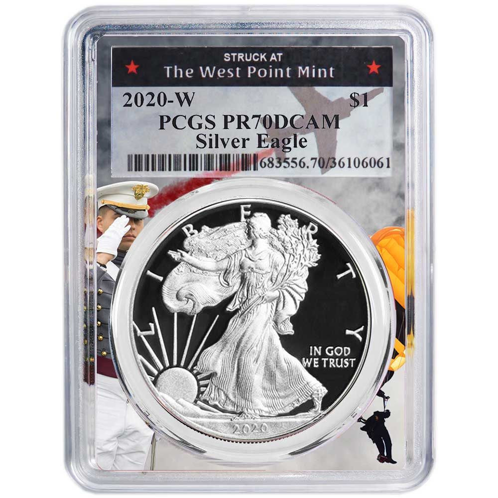 PRESALE 2020 W Silver Eagle Proof PCGS PR69 DCAM First Day Issue Label