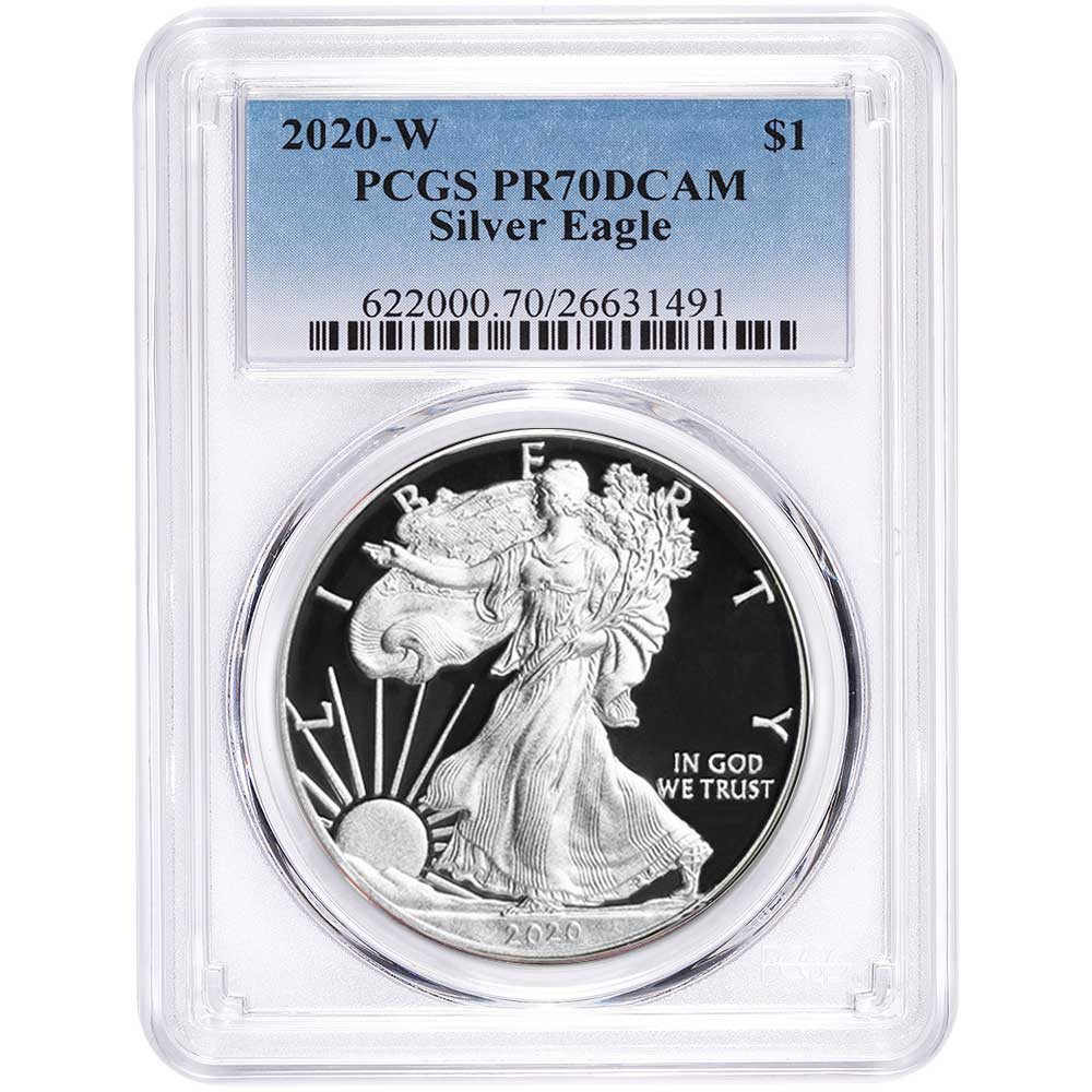 2020 $1 American Silver Eagle PCGS MS69 Made in USA Label