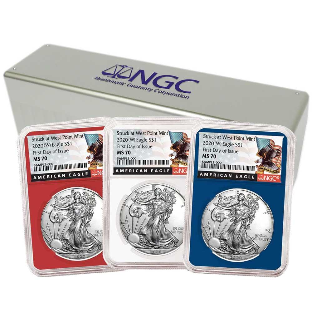2020 $1 American Silver Eagle NGC MS70 FDI Black Label