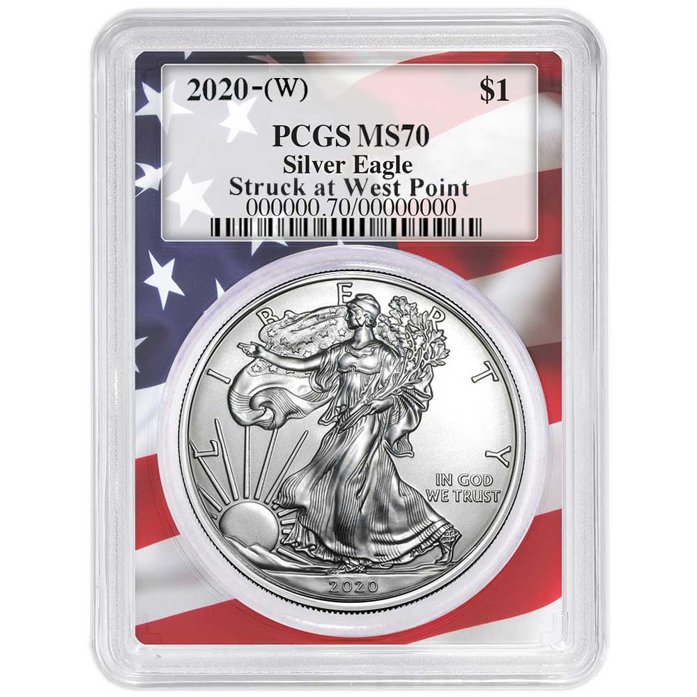 2020 $1 American Silver Eagle NGC MS70 West Point Core