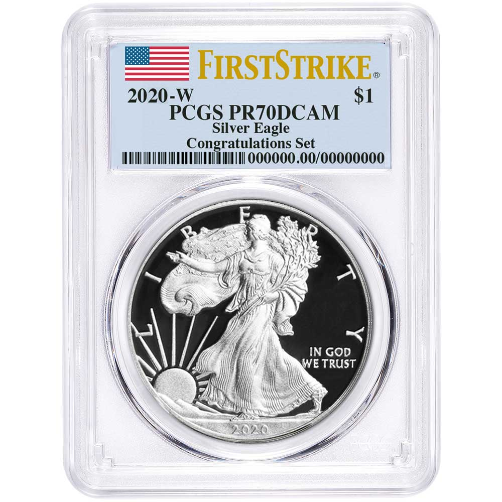 2020 W 1 oz Proof Silver American Eagle $1 Coin PCGS PR70DCAM FUN LABEL PRE-SALE