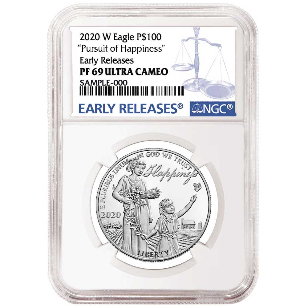 2020 W Silver Eagle Proof NGC PF69 UC Early Releases Blue Label