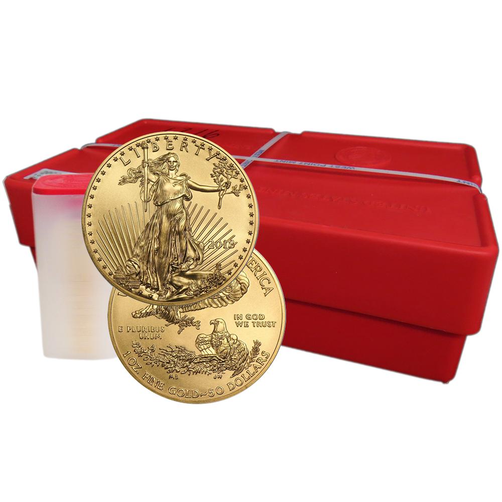 Lot Of 500 2018 50 American Gold Eagle 1 Oz Bu Full Monster Box