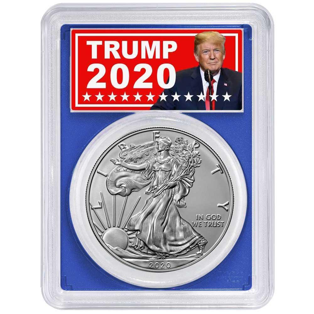 Set NGC MS69 Emergency Production Trump E 2020 S $1 American Silver Eagle 3pc