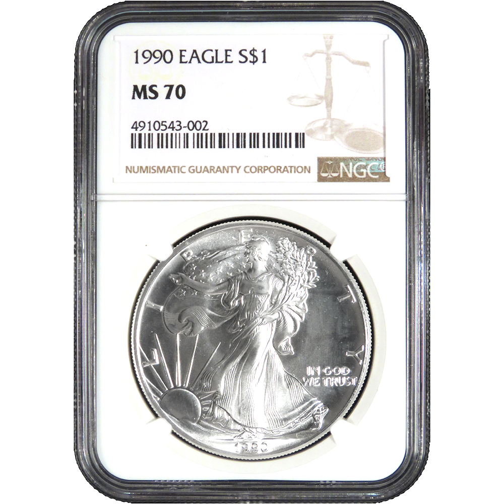 2006 $1 American Silver Eagle NGC MS70 Brown Label