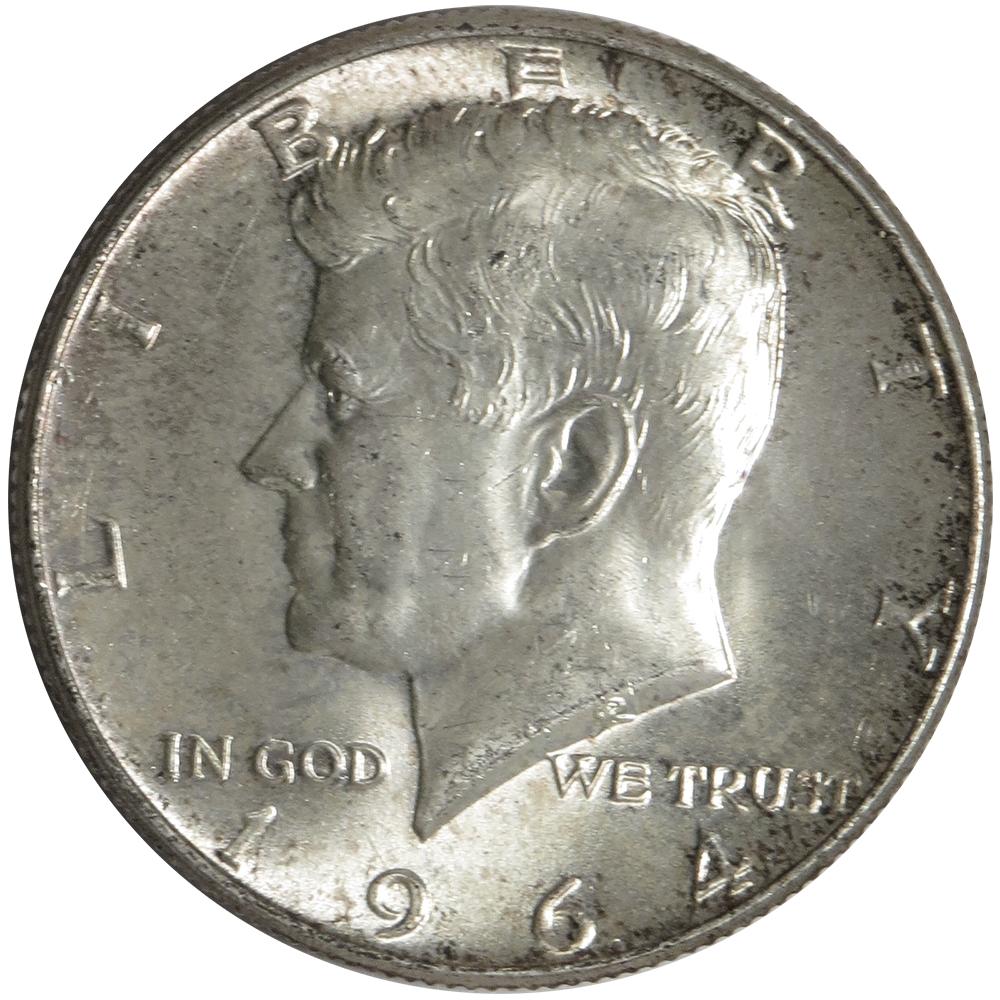 1964 90% Silver Kennedy Half Dollars Average Circulated $1