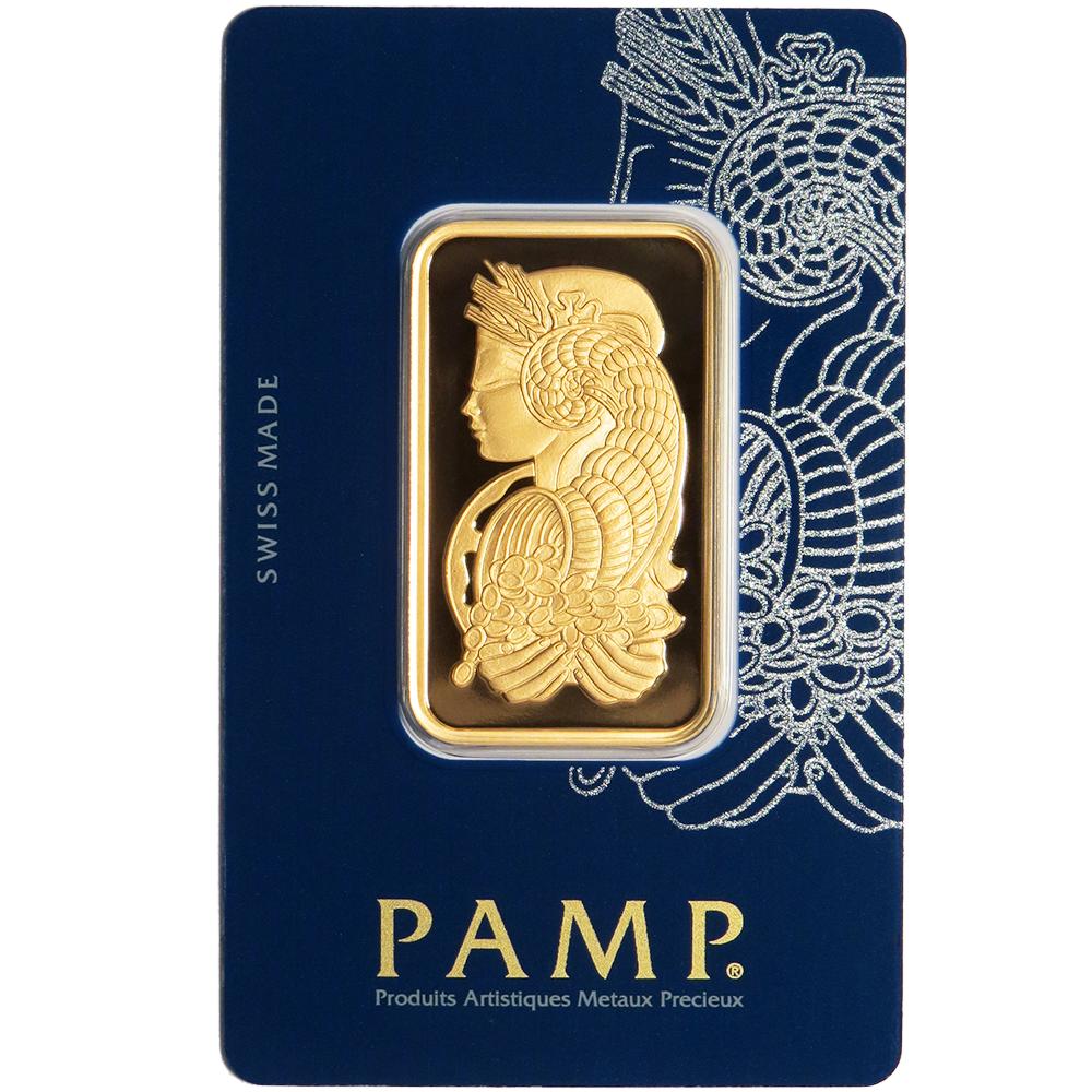 1 Troy Oz Pamp Suisse Gold Bar 9999 Fine Fortuna Veriscan