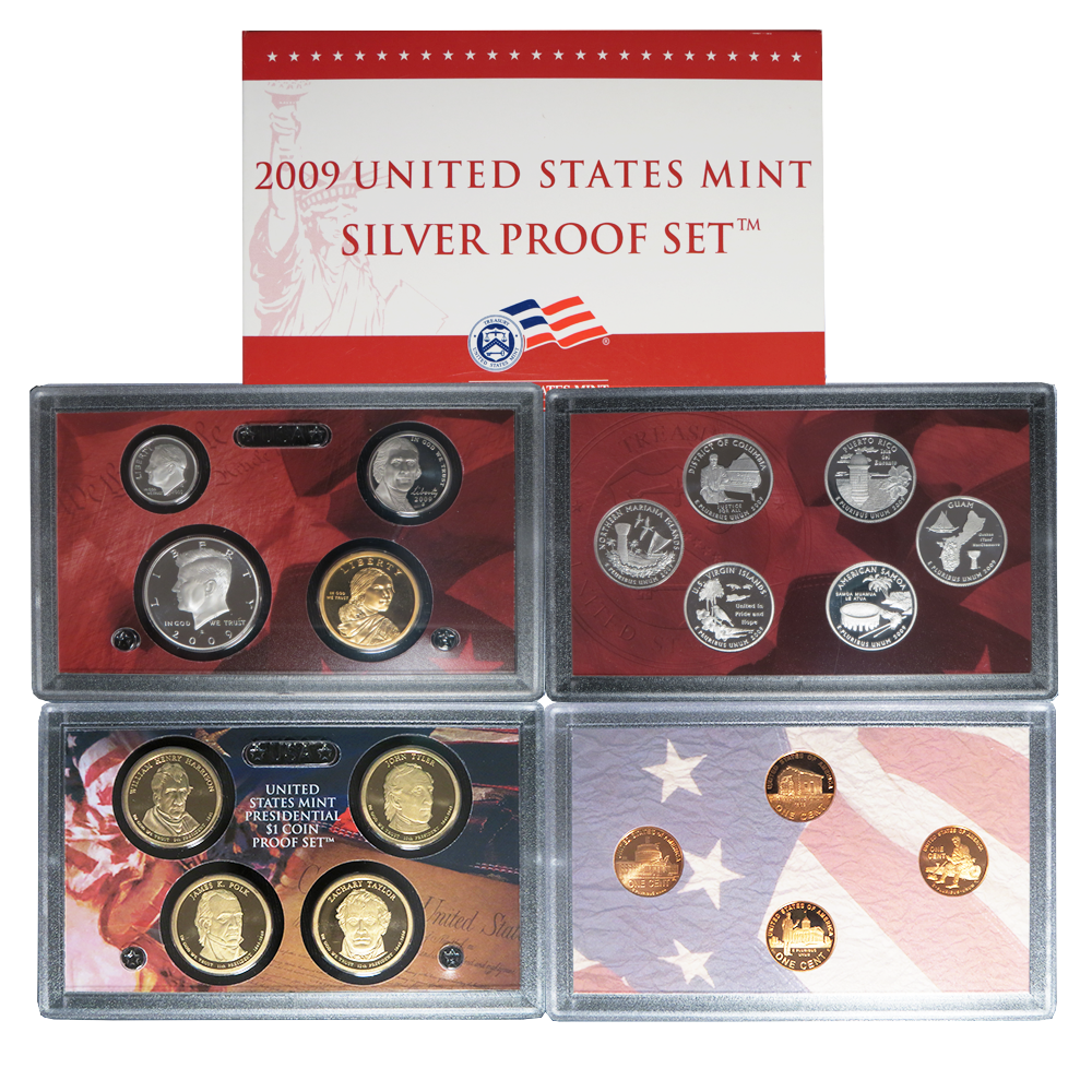 2009-S~~US MINT 4 COIN PRESIDENTIAL  PROOF SET~ON HAND