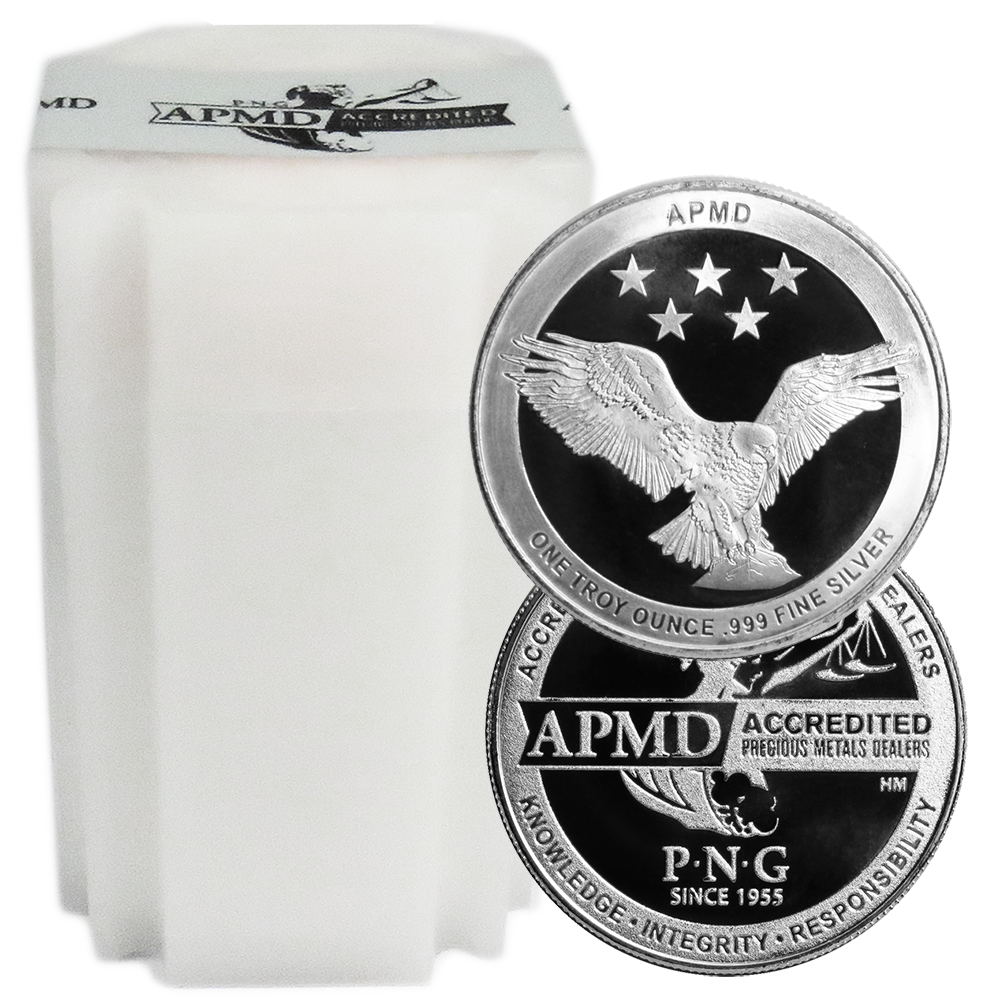 BU PNG 3-1 oz .999 Silver Rounds Accredited Precious Metals Dealers